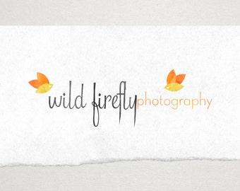 Premade Logo // Logo Design // Business Logo //  Photography Logo // Watercolor Logo // Firefly Logo