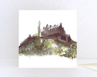 Edinburgh Castle view from Princes Street, Edinburgh - Greeting Card