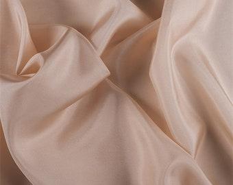 Bisque Silk Habotai, Fabric By The Yard
