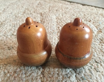 Wooden Acorn Salt and Pepper shakers