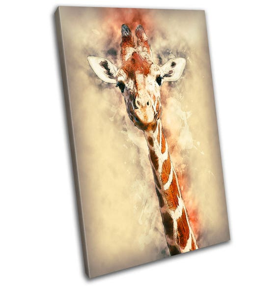 Giraffe Animal Art Canvas Print Abstract Art Wall Art