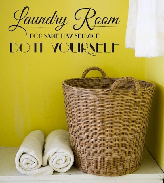 Items similar to Wall Decal - Laundry Room DO IT YOURSELF - Wall ...