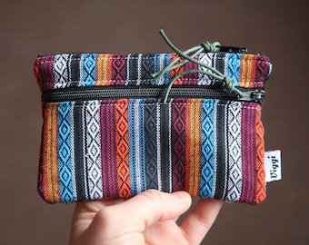 woman small wallet / coin purse peru / vegan pouch / travel gadget / aguayo mens