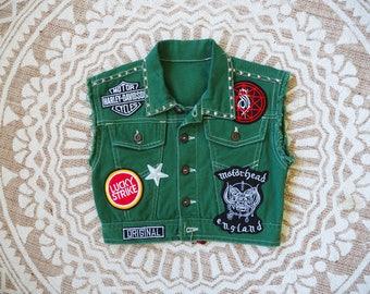 Lil'Rockers green kids Battle Vest. Size 3-4
