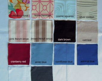 Tranquility1 Fabric Samples by NikkiDesigns, Linen, Cotton