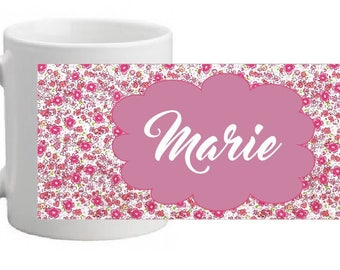 """Flower print"" custom ceramic MUG"