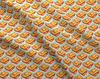 Buttered Toast Fabric - Toast By Kellygilleran - Retro Breakfast Kitchen Decor Cotton Fabric By The Yard With Spoonflower
