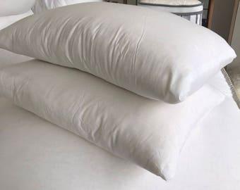 2- Standard ORGANIC cotton /wool bed pillows