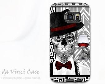 Sugar Skull Case for Samsung Galaxy S7 EDGE - Premium Two Piece Galaxy S 7 EDGE Case with 1920's Day of The Dead Art - Mr JD Vanderbone