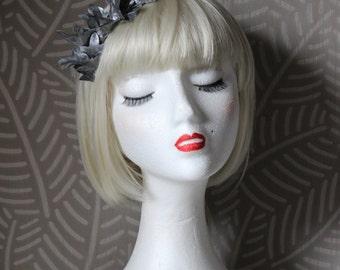 Silver leaf headband, Silver crown, silver tiara, Atenea tiara with silver leafs, wedding tiara, bridal tiara, woman headband, wedding crown