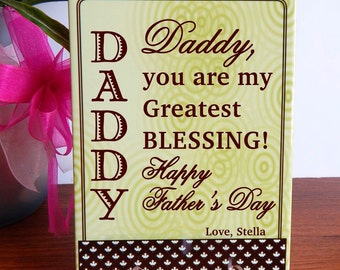 Fathers Day Gift - Gift for Daddy Father's Day Personalized - Dad Gift from Son or Daughter - Plaque