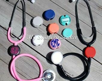 Personalized Doctor / Nurse Monogram Stethoscope Tag