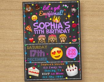 Emoji Birthday Invitation, Printable Emoji Birthday Party Invite, Smiley Emoticon Invitation, Emoji Birthday Boy Girl Printable Invitation