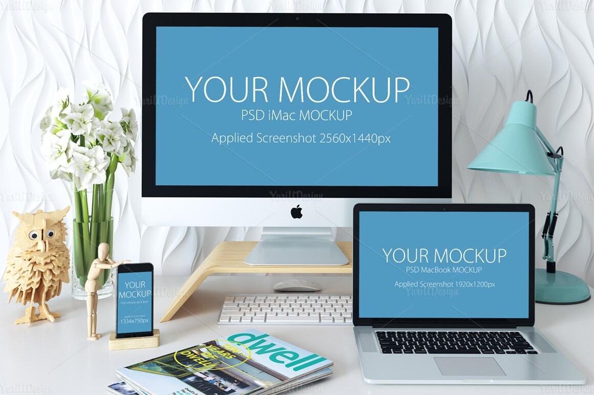 Maqueta del dispositivo Apple 3 diseño de pantalla de la