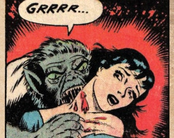 Vintage Horror Comic wall art