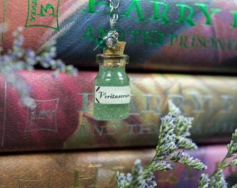 HP Veritaserum Potions Book Necklace Potions Necklace HP Necklace Book Jewelry Fandom Necklace Wizard Necklace HP Jewelry