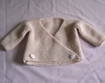 Baby booties and knit top