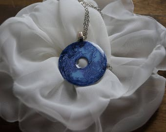 Resin Galaxy Washer Necklace Pendant
