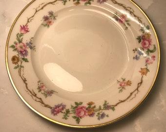 Vintage Limoges Dessert Plate, GDA Limoges, France, Pink Floral Dessert Plate