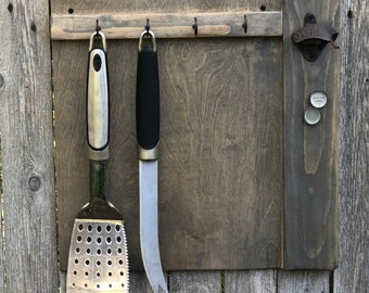 Bbq sign etsy - Grill utensil storage ideas ...