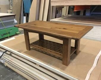 Re-claimed oak coffee table