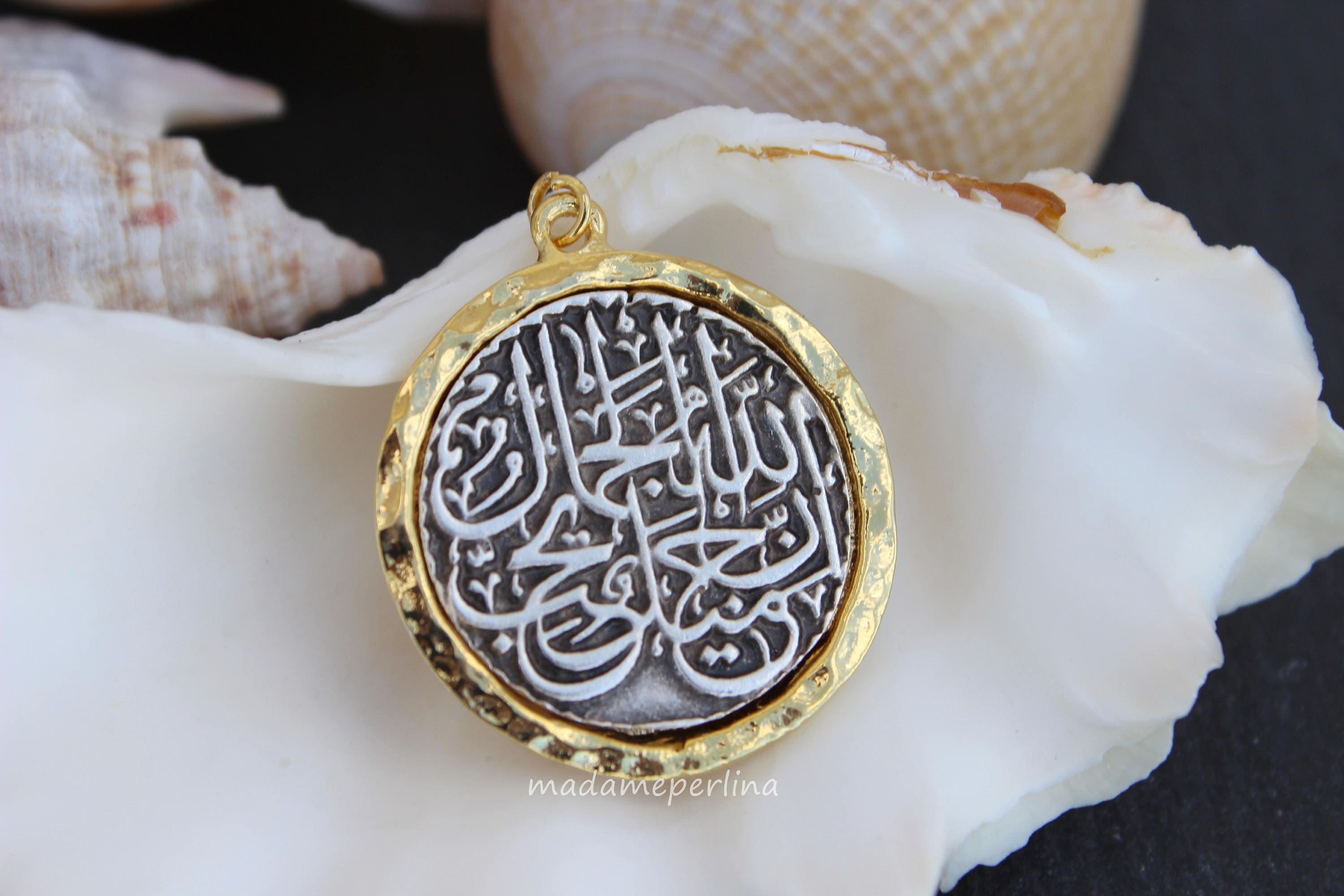 goldplated img sterling small over edit silver artizara islamic products arabic necklace bismillah