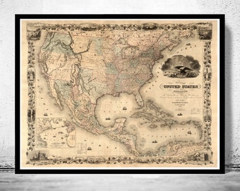 Old Map of United States 1850