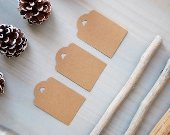 Craft paper tags - Craft paper party favor tags - Party favour tags - Craft paper gift tags - Brown paper tags