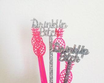 Drink Up Bitch Drink Stirrers,Stir Sticks,Swizzle sticks,Bachelorette Party,Bridal Shower,Engagement Party,Cocktails,Birthday,Acrylic,6 Pk