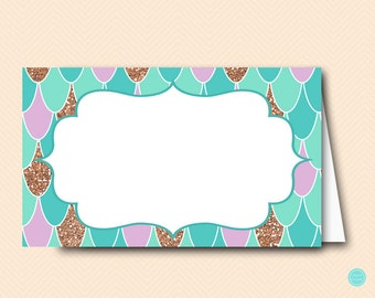 Mermaid Tent Labels. Food Tent Labels,  Food Labels, Bridal Shower Labels, Bridal Shower Decorations, baby shower decorations TLC516 BS516