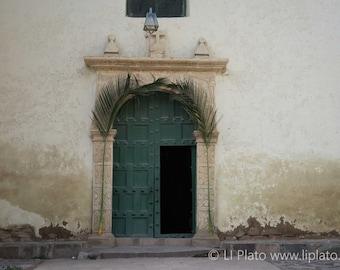 Sacred Valley Entries 6, Fine Art Photography, Landscape, Inca, Ollantaytambo, Small Town, Doorway, Church, Wall Art, Home Decor