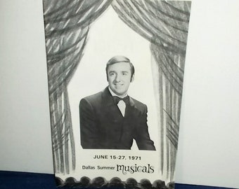 Vintage 1971 Booklet-DALLAS Summer Musicals-the Jim Nabors Show-Ads, Ads, Ads-Free Shipping!