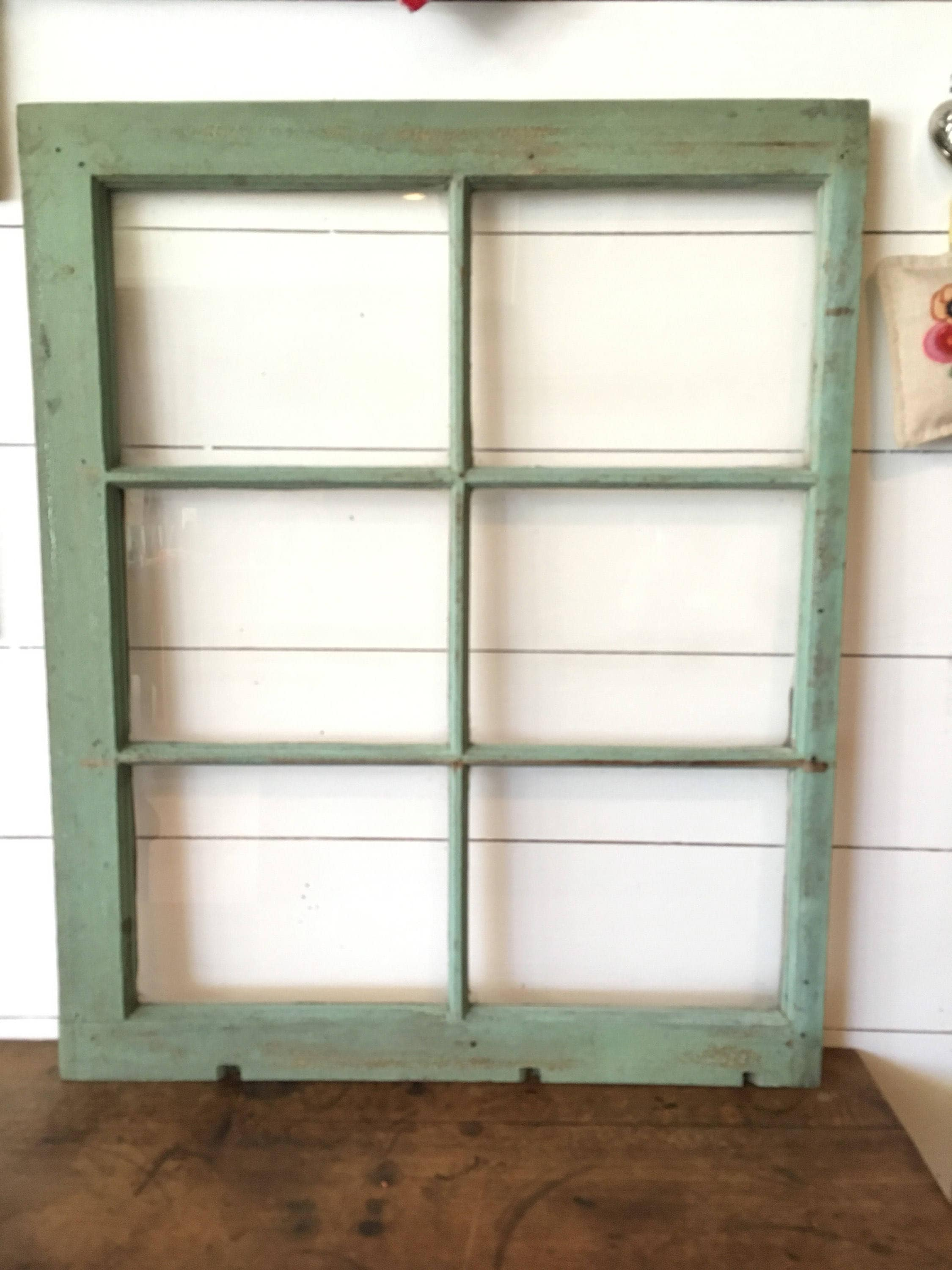Distressed Green Window Frame, Old Chippy Wooden Window Frame ...