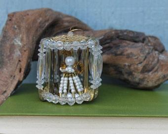 Mid Century Beaded Angel Ornament