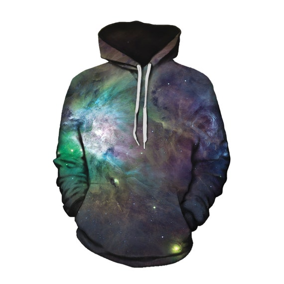 Pullover Unisex Hoodie for Him or Her - Festival Space Clothing Gift - Sublimation Art Print - EDM Wear 3yw8coahaM