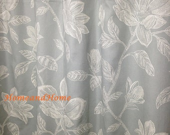 extra long shower curtain grey. Shower curtain Grey shower Fabric Extra long  Wide Etsy
