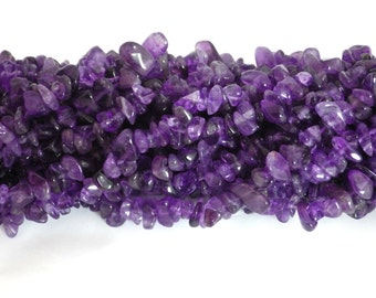 Amethyst Chip Beads 5x8mm on String
