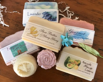Spa Collection Handmade Natural Soaps, Bath Bomb, Lotion Bar Gift Box // Mother's Day Gift Set // Gifts For Her // Soap Gift Box