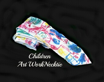 men's necktie, colorful tie, designer necktie, children art work necktie,      # T 55