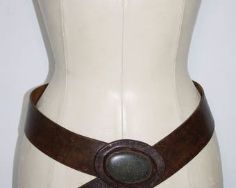 Belt leather and stone