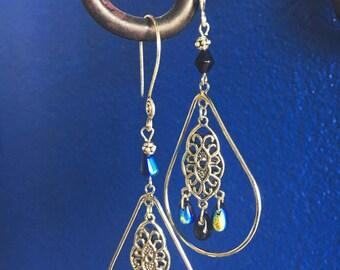 Solar Stone Chandelier Earrings