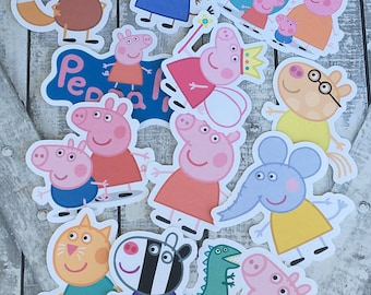 Large Die Cuts - Peppa Pig & Friends,INSTANT DOWNLOAD, Cut Outs, Peppa Pig Birthday Party,Peppa Pig,Peppa Pig Party, Large Cut Outs DIgital
