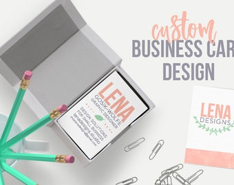 Business Cards - Custom Business Card Design - Business Branding - Modern Business Card - Etsy Business Card - Card Design - Graphic Design