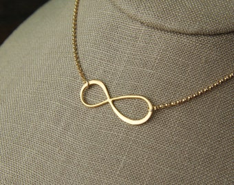 Large gold infinity necklace, simple gold necklace, infinity necklace, gold infinity, eternity necklace, infinity symbol, mother's day