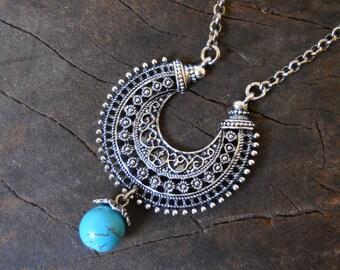 bohemian necklace pendant necklace boho necklace boho jewelry turquoise jewelry turquoise pendant necklace turquoise  bohemian necklace