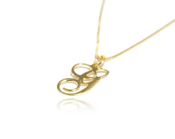 Initial Necklace Gold Initial Necklace Monogram Initial Necklace Initials Necklace Initials Pendant Necklace
