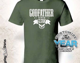 Godfather Since (Any Year), Godfather Gift, Godfather Birthday, Godfather tshirt, Godfather Gift Idea,