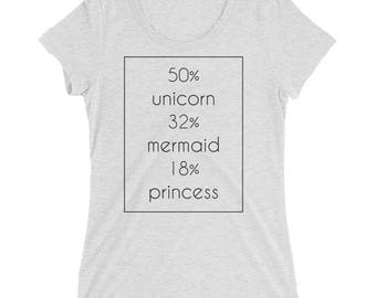 Unicorn Mermaid Princess / Little Mermaid / Cut Princess / Woman T-shirt / Girls Unicorn shirt