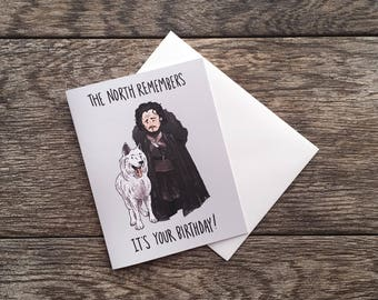Game of Thrones Jon Snow Birthday Greeting Card