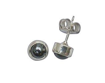 Hematite and Sterling Silver Post Earrings  ehemb2945